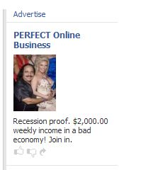 Facebook ad for, well, what exactly?